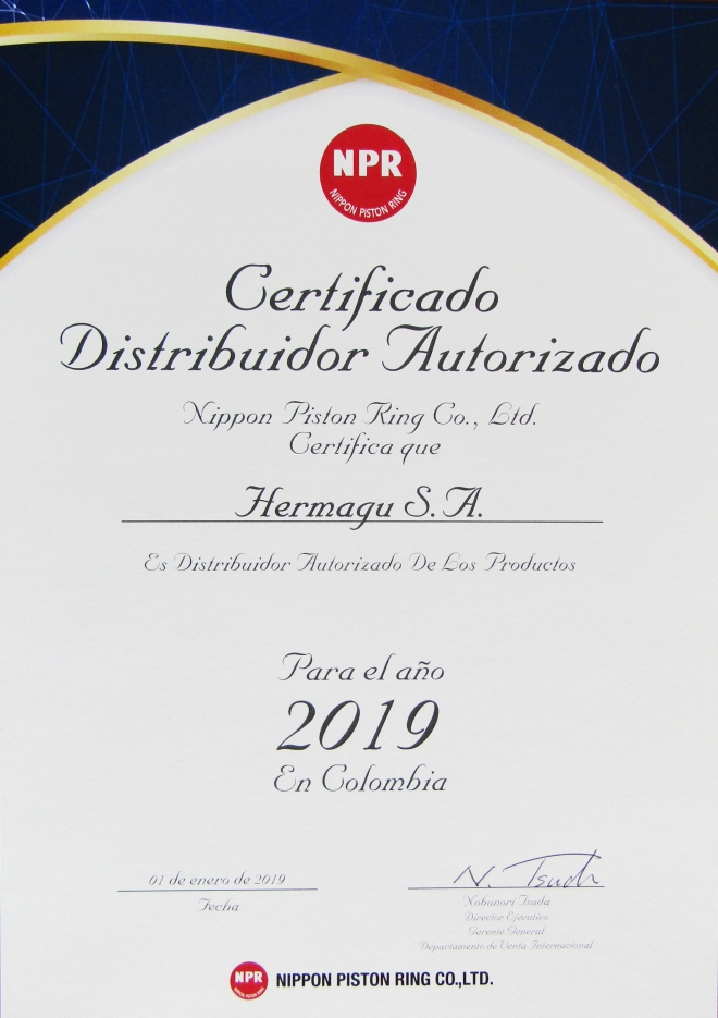Certificado Nippon Piston Ring